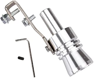 Car Automotive Muffler Exhaust Pipe Turbo Fake Blow Off Valve Bov Sound 30mm Chrome Silver Size L Whistle Simulator Whistler Universal Fitment Aftermarket For All Vehicles Models