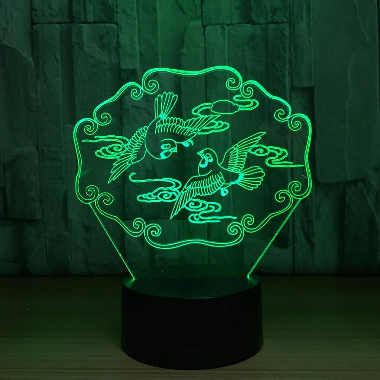 Zyue Mandarinente 3D Illusion Nachtlicht Tier USB Tischlampe Bunte Led 3D Lampe Für Hochzeit Party Decor Liebhaber Geschenk,Blautooth-Lautsprecher