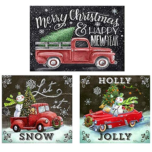 DIY 5D Diamond Painting Kits for Adults, Christmas Snowman Diamond Art Full Drill Embroidery Craft (Happy New Year)