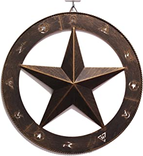 "Hot Air Balloon 15"" Texas Western Barn Metal Star Tin Vintage Wall Decor Lonestar.."