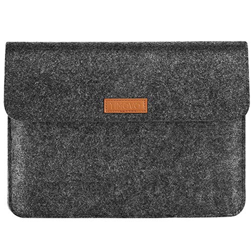 TiMOVO 9-11 Inch Felt Tablet Sleeve Case for iPad 8th/7th Gen (10.2' 2020/2019), iPad Air 4, iPad Pro 11 2020/2018, Galaxy Tab A 10.1, S6 Lite 2020, Apple Smart Keyboard,Portable Pocket Bag,Dark Gray