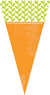 amscan Easter Carrot Shaped Plastic Treat Bags, 15 Ct. | Party Supply