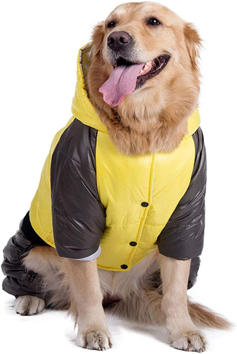 Hengtongtongxun,Large Dogs, Dog Clothes, Big Dog Clothes, golden Labrador Soft, Thick Warm, DirtResistant, Durable, AllInclusive FourLegged, Look at The Order  Moda (color   Yellow, Size   34 )