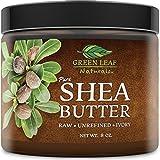 Green Leaf naturali africano burro di karitè–Raw Unrefined Organic–100% puro per capelli e pelle–liscio e cremoso per ricette DIY (226,8gram)