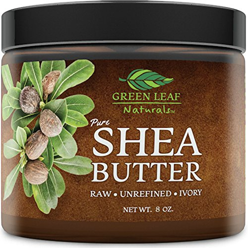 African Shea Butter - Raw Unrefined Organic - 100% Pure for Hair and Skin - Smooth and Creamy for DIY Recipes (8 oz)