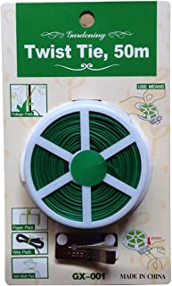 Yardwe Lazos de cable de jard/ín de lazos de torsi/ón de la planta con el cortador para cultivar un huerto hogar oficina 100m