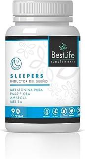 Melatonina Pura con Pasiflora, Amapola y Melisa | Potente Inductor del Sueño | Elimina el Insomnio y mejora la calidad del sueño | Efecto rápido y prolongado | Producto 100% Natural | 90 Cápsulas