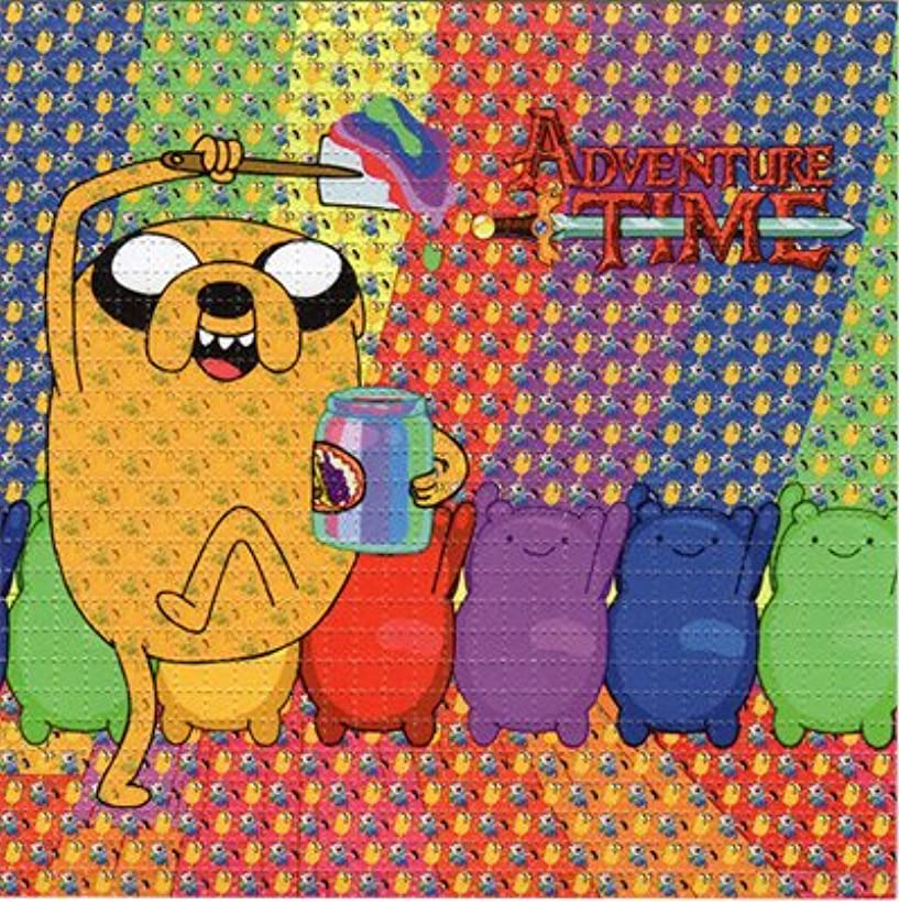 Gdabs Psychedelic Blotter Art Print perforated sheet/paper 30x30 - Adventure Time Design