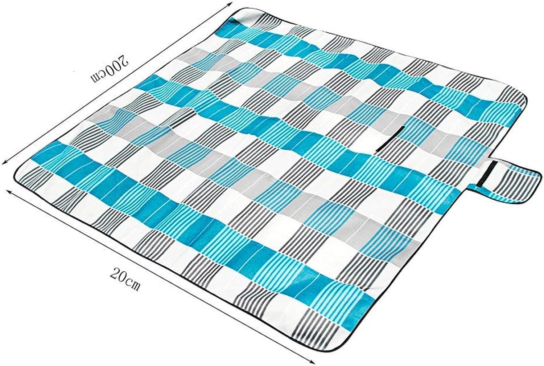 Eoco Eoco Eoco Picknick-Matte 200  200 Outdoor Strand Rasen Picknick Camping Verdickung Erweiterung Doppel Zelt Matte (Farbe   Japanese Sea Blau Strip) B07G6F64SB  Gesunder Rhythmus 6c1f62