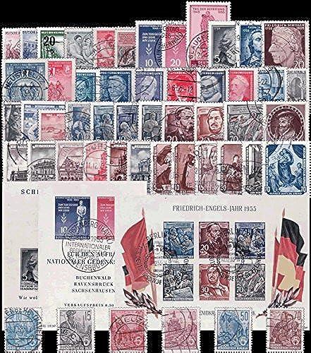 Briefmarken  DDR 1955 kompletter Jahrgang, Gestempelt
