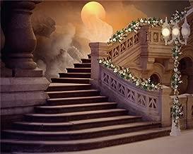 AOFOTO 10x8ft Vintage Stairs Backdrop Romantic Flowers Road Lamp Photo Shoot Background Retro Elegant Wedding Photography Studio Props Adult Lover Artistic Portrait Digital Video Drop Vinyl Wallpaper