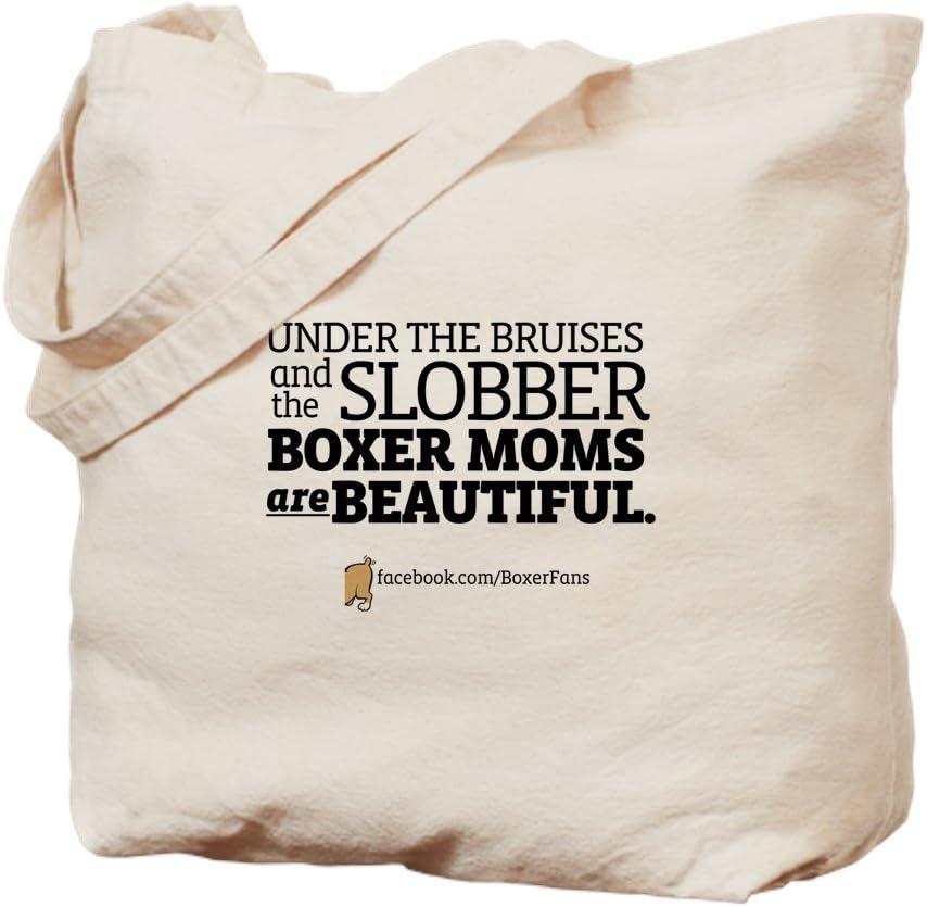 CafePress &Quot;Boxer Moms Are Beautiful&Quot; Tote Bag Natural Canvas Tote Bag, Reusable Shopping Bag
