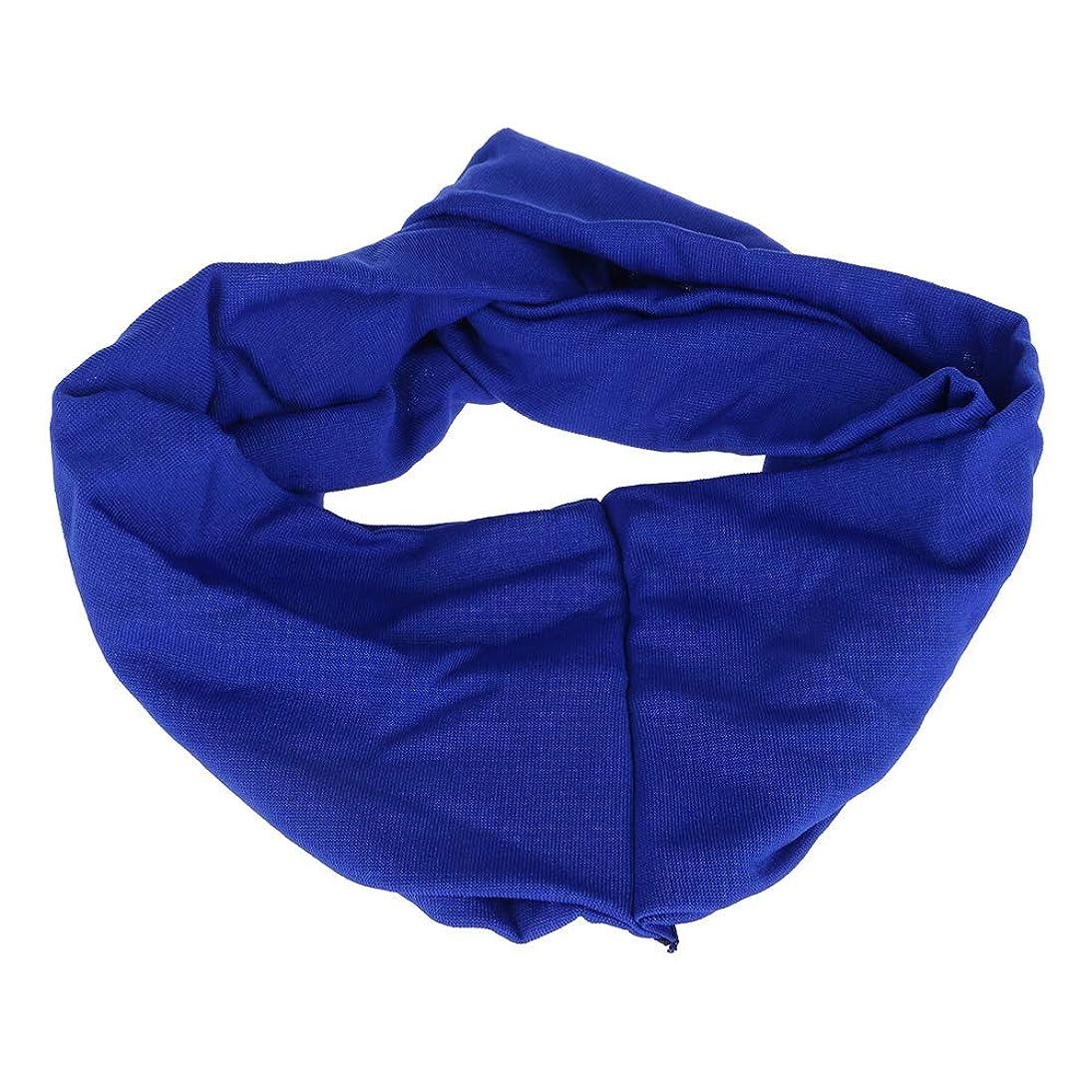 眉ラッシュライナー女子 ヘアリボン ワイドヘッドバンド キャンディーカラー ポリ+コットンブレンド スポーツ ブルー
