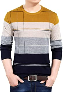 Cromoncent Mens Loose Fit Knit Argyle Button-Down Cardigans Sleeveless Jumper Sweaters