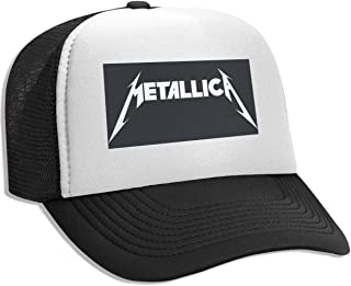EARTGO Metallica Summer Trucker Hat for Men Mesh Snapback Cap Adjustable