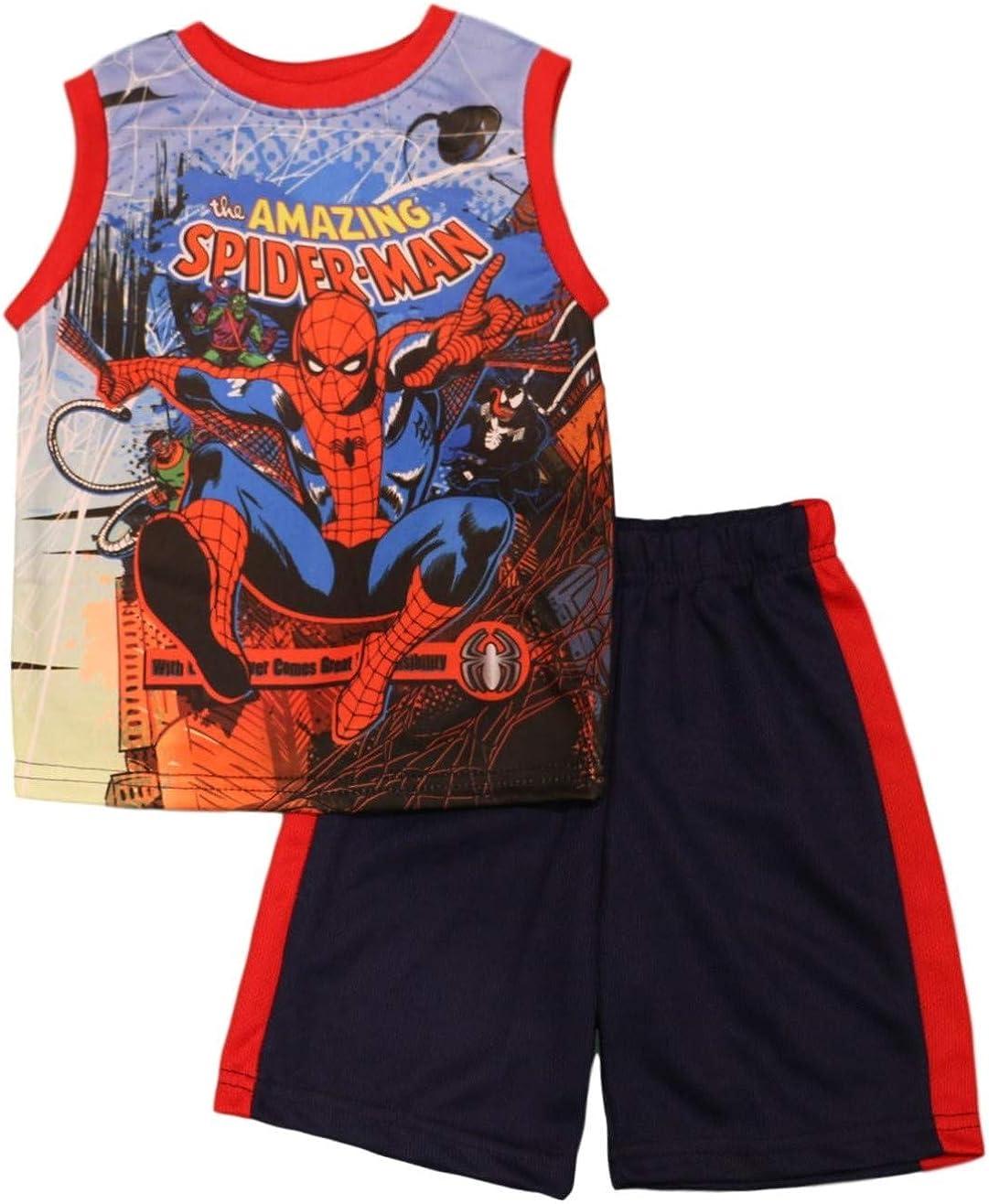 Spiderman Little Boys' Sublimated Shorts Set