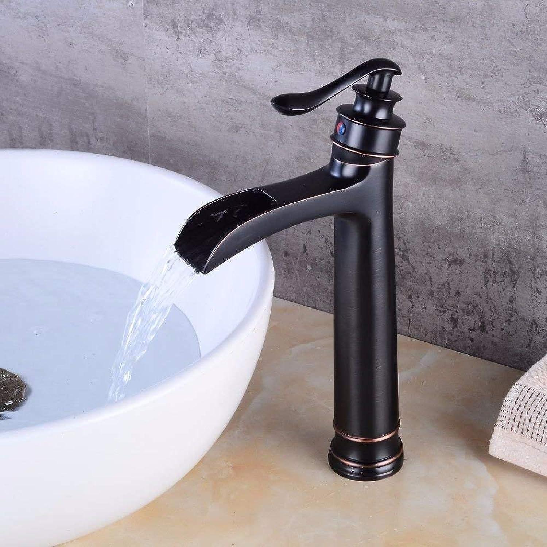 FERZA Home Waschbecken-Mischbatterie Badezimmer-Küche-Becken-Hahn auslaufsicher Save Water Swan fllt aus Wasser und kaltem Wasser Keramikventil Einzelloch Einhand-Badezimmer