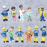 Yaoqshu Actionfiguren 12 Stück / Set Cartoon Figur Spielzeug 3-6cm Nette PVC Puppen Spielzeug Elvis...