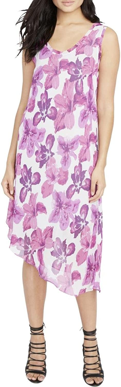 Rachel Roy Womens Floral Asymmetrical Dress