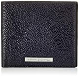 Armani Exchange Bifold W/Credit Card, Cartera Doble para Hombre, Negro (Negro/Black), 1.8x11.20x9.8 Centimeters (B x H x T)