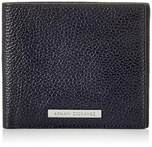 Armani Exchange Bifold W/Credit Card,  Monedero de Doble Pliegue para Hombre,  Negro (Negro/Black),  1.8x11.20x9.8 Centimeters (B x H x T)