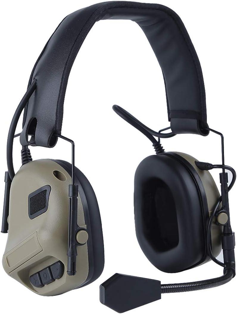 auriculares t/ácticos militares ideales para deportes al aire libre y caza DAN DISCOUNTS Auriculares t/ácticos t/ácticos militares de comunicaci/ón t/áctica
