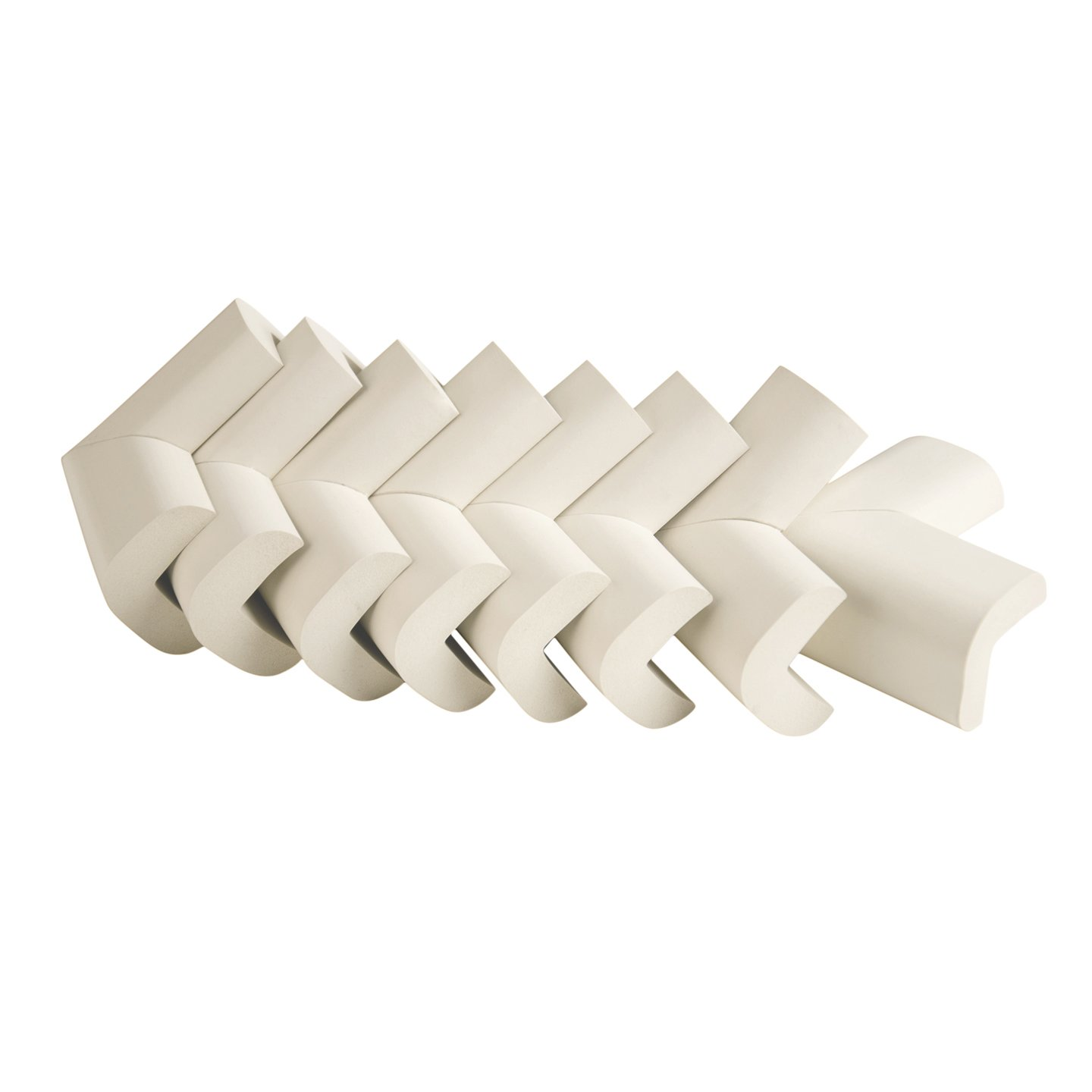 Mombella 8pcs Ivory high Density NBR Foam Corner Guards with High Adhension 3M FOAMING Bonding Tape,Easy to Install and Strong Enough to Protect Babies&Old People from Sharp Corners.