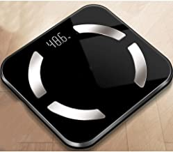 NYDZDM Electronic Scale Intelligent Body Fat Called Household Small Adult Precision Electronic Scales Cute Small Weight Scale USB Charging (Color : Black)