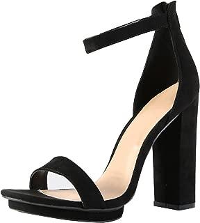 Wild Diva Womens Open Toe High Chunky Heel Ankle Strap Platform Sandal Pumps Shoes