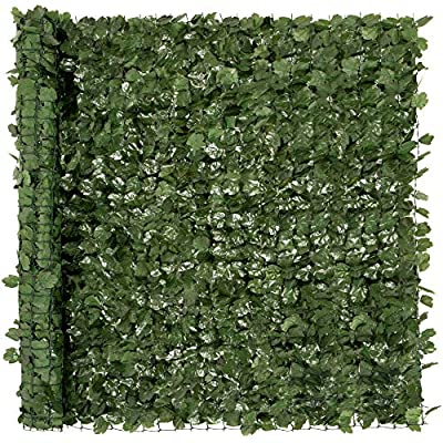 Best Choice Products 94x59in Artificial Faux Ivy Hedge Privacy Fence Screen for Outdoor Decor, Garden, Yard - Green