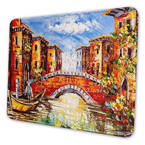 Gaming Mouse Pad - Venice Italien Boot Rechteck Gummi Mousepad - Mausmatte für Geschenkunterstützung Kabelgebundene oder Bluetooth-Maus
