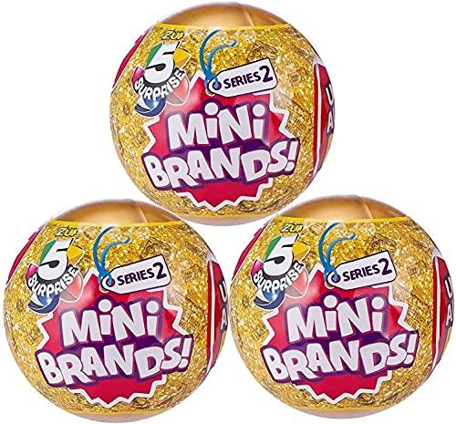 Generic 5 Surprise Mini Brands Series 2 by Zuru - 3 Ball Bundle