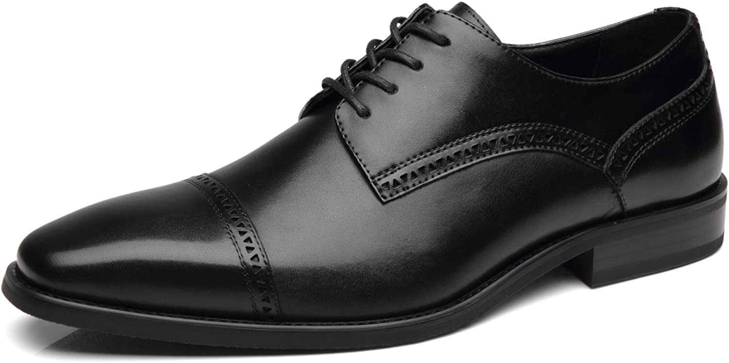 NXT NEW YORK Mens Dress shoes Leather Oxford shoes Men Comfortable Formal Business shoes