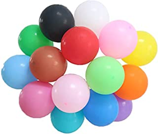 100 Pcs 12 Inches Thicken Assorted Color Party Balloons for Decoration High Quality NO Odor 15 Colors 2.8 Gram/Pcs (Assorted)