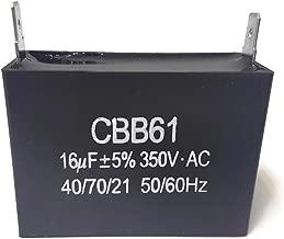 ITACO 16uF Generator Motor Capacitor 16.5uF 15.5uF CBB61 Condenser 50 60 Hz 350V 350 VAC UL AVR