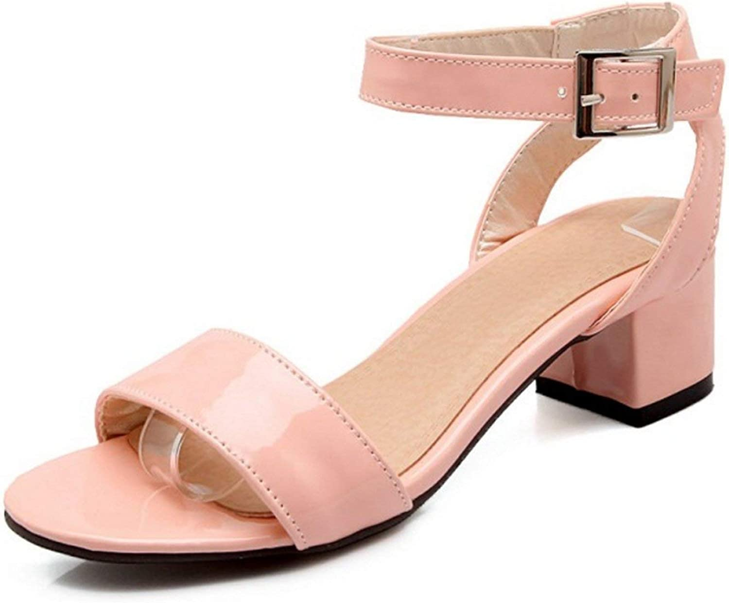 ALWAYS ME Woman Sandals with Open Toe and 4.5Cm Chunky Heels Buckle Comfort Footwear Large Size