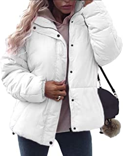 Women Winter Down Coat Puffer Jacket Stand Collar Down Jacket