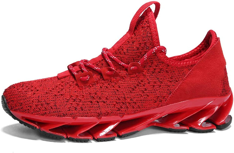 Qiusa Mens Mens Casual Laufschuhe Weiche Sohle Rutschfeste Atmungsaktive Outdoor Sport Trainer (Farbe   Rot, Größe   EU 41)  heiße limitierte Auflage