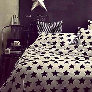 MZPRIDE Black and White Duvet Cover Set 100% Cotton Black and White Bedding