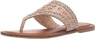 XOXO Womens Rhonda Open Toe Casual T-Strap Sandals, Blush, Size 10.0