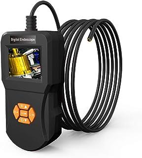 Winbang Inspektionskamera, Industrielles Endoskop Digitales Endoskop mit 5,5 mm Wasserdichter Mikroschlangenkamera 6 Justierbarem LED Licht Endoskop (3m)