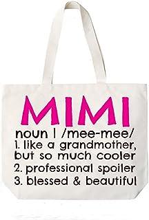 Mimi Definition Canvas Tote Bag Grandma Gift Idea for Mimi Book Bag
