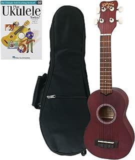 Kohala Kine'O Soprano Ukulele Beginner Bundle with Instruction Book and Gig Bag