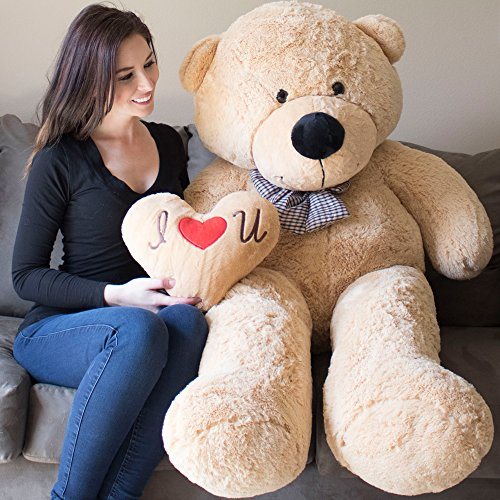 YESBEARS Giant Teddy Bear 5 Feet Tan Color Ultra-Soft (Pillow Included)