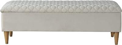 Amazon.com: MJL diseños Brooke Solid Almacenamiento Banco ...