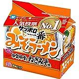 サンヨー食品 サッポロ一番 みそラーメン 加賀味噌使用 ねぎみそ風 5食パック ×6箱