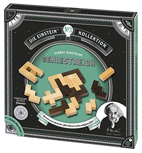 moses. 92098 Albert Einsteins Geniestreich Puzzle , Professor Puzzle Geduldspiel aus Holz , 12 Aufgaben in einem Set
