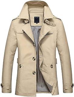 Giacche Uomo Autunno Inverno Manica Lunga Trasferimento Cappotto Parka Slim Vintage Tuta Fit Sportiva da Uomo Trench da Uomo