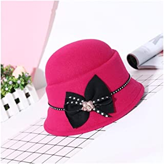 MZHHAOAN Hat,Autumn and Winter Ladies Hat, of The Shaped Irregular Rhinestone Elegant Cold Warm Hat Cap