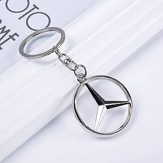 3D Metall Chrom Mercedes Auto Schlüsselanhänger Auto Logo Schlüsselanhänger